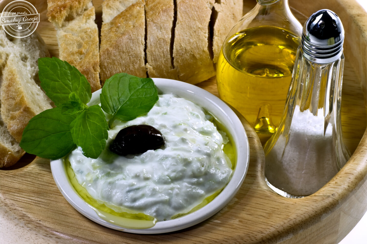 Traditional Greek dip tzatziki
