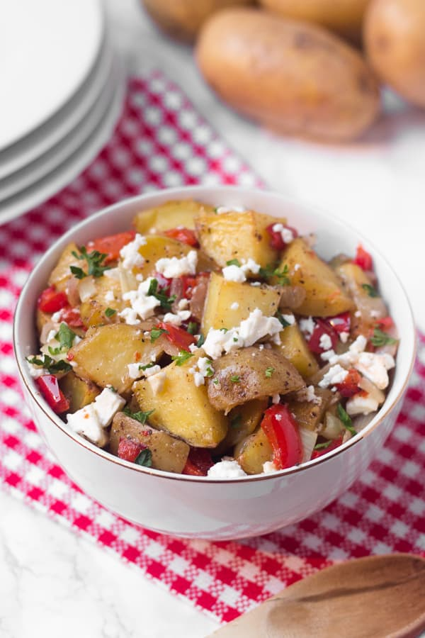 Lekka grecka sałatka ziemniaczana